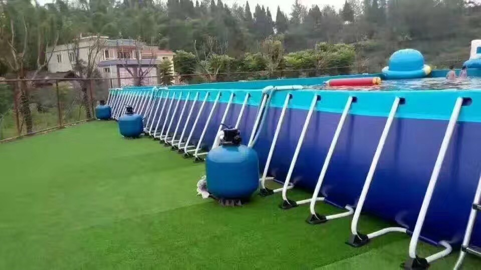 Metal Frame Swimming Pool for Inflatable Amusements