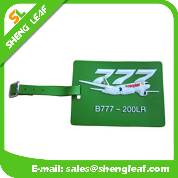 Cartoon PVC Rubber Luggage Tag for Travel Souvenir (SL-LT001)
