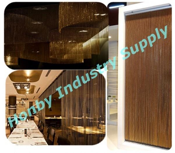 Splendid Brown Color Aluminum Chain Linked Curtain