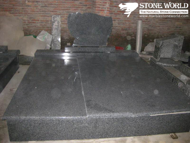 European/Russian/American Style Granite/Marble Tombstone with Custom Design