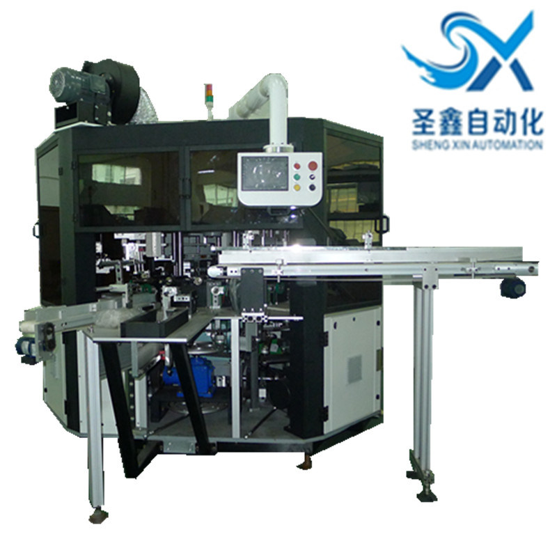 Automatic Multicolor Round Surface Glass Plastic Bottles Tubes Screen Printing Hot Stamping Machine