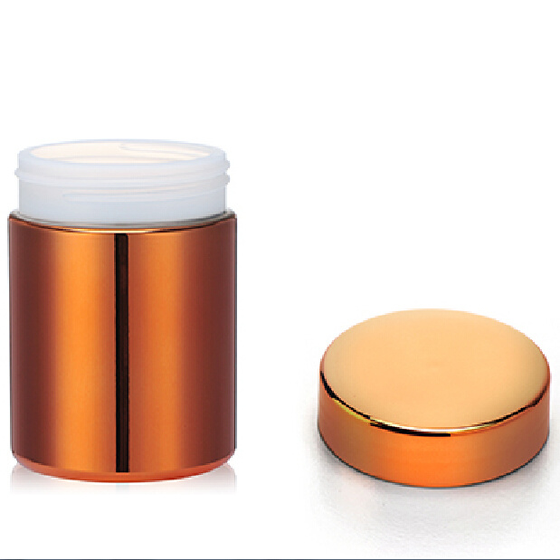 8oz/250ml Orange Chromed/Metallized Protein Supplement Containers