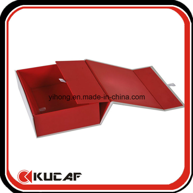 Custom Printing Four Colours Flat Open Magnetic Folding Gift Packaging Box