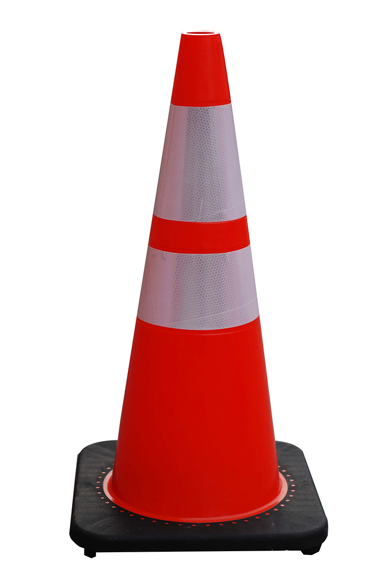 """28"""" 7lb Best Molded Orange Traffic Cone with Reflective Collar"""