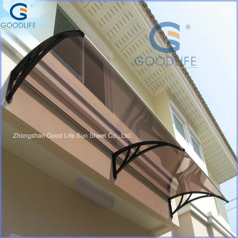 8mm Transparent Polycarbonate Roofing Thermal Protection Carport Panels