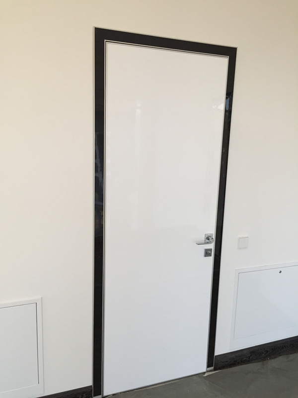 Fireproof Entry Door, White Swing Door, Glossy Bedroom Door