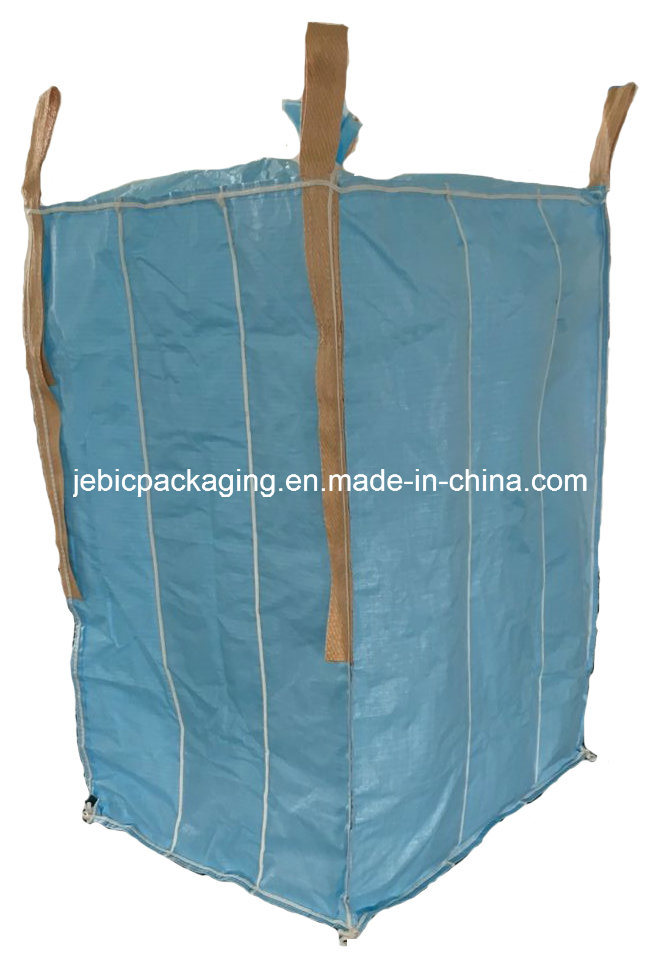4 Side Beige Belt Type D Conductive Baffle FIBC Bulk Bag