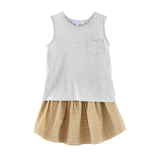 100% Cotton Knitted Sleeveless Children T-Shirt