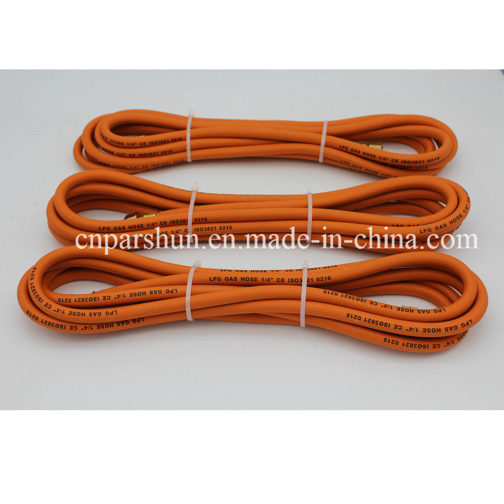 "ISO 3821 1/4"" Inch Working Pressure 20 Bar Orange Rubber Gas Tube"