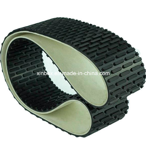 Black PVC Capsule Stud Patter Conveyor Belt for Stone/Polishing Machine
