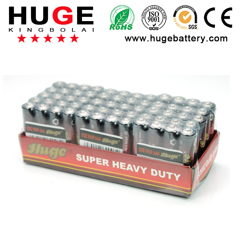 1.5V Super heavy duty Carbon Zinc lithium li-polymer Dry Battery (AAA R03 UM-4)