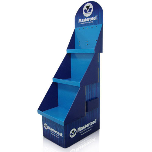 Customized Pop Cardboard Display Stand, Store Paper Display Shelf