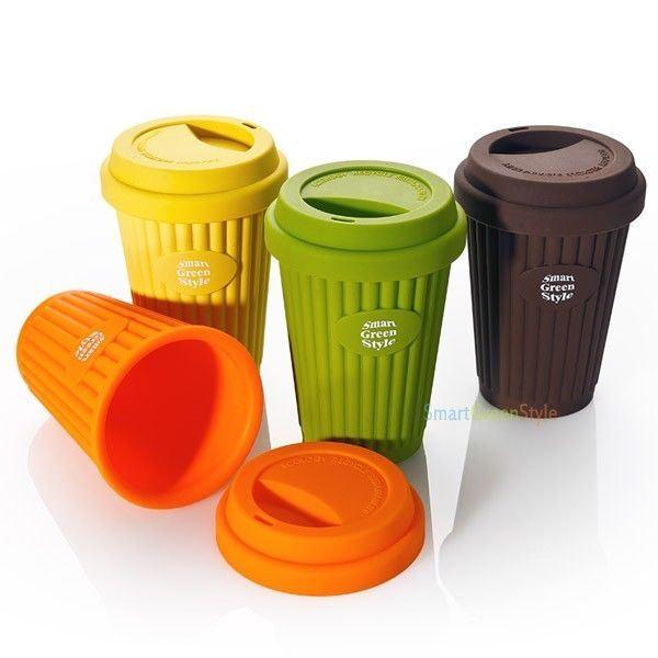 Portable Food Grade Travel Coffee Tea Mug Cup Lid