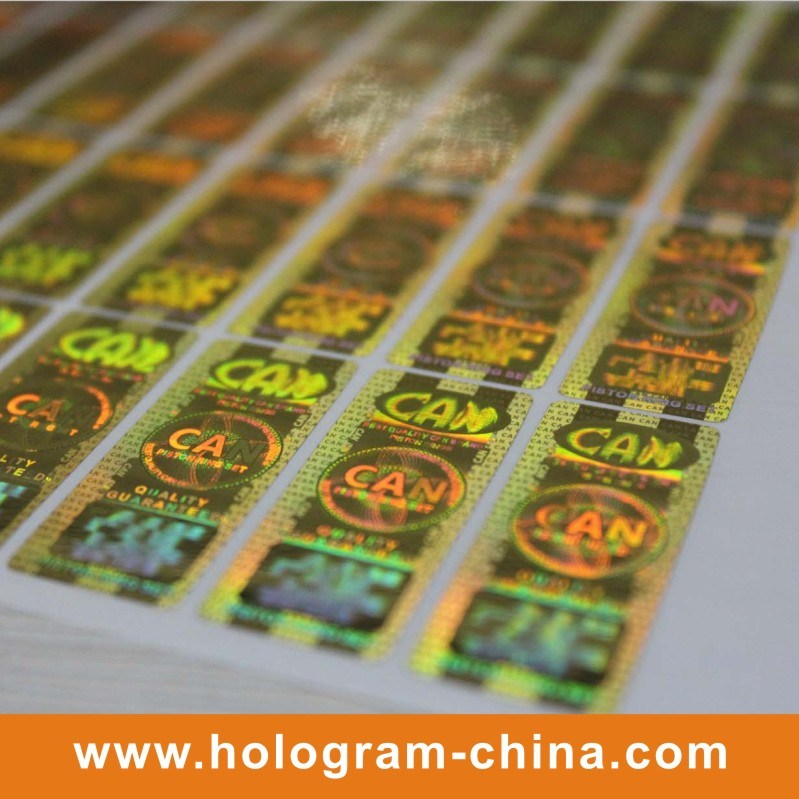 Golden Security Adhesive Hologram Sticker Label Print
