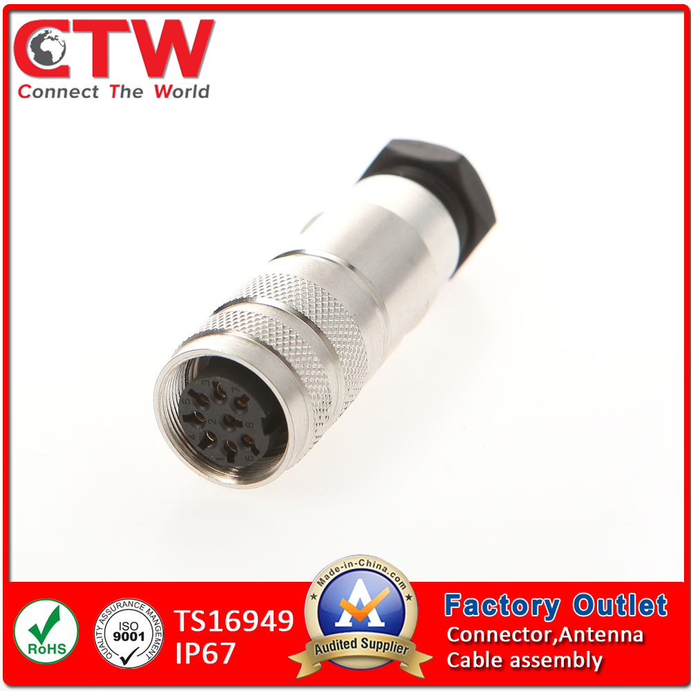 M16 IP67 Female Cable Side Connector