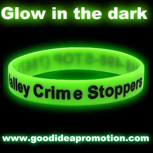 Glowing Silicone Bracelet with Customer Logo