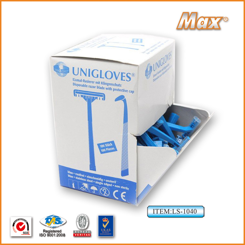 Single Stainless Steel Blade Disposable Razor for Medical (LS-1040A)