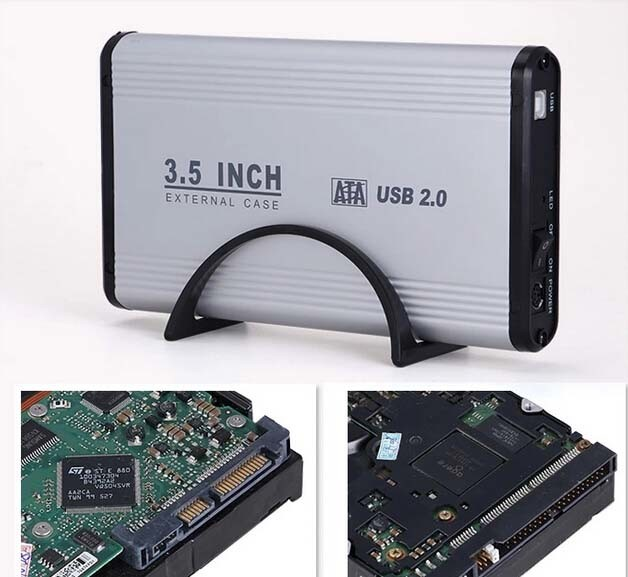 Aluminum-Magnesium Material HDD Enclosure Support SATA Serial and IDE Parallel