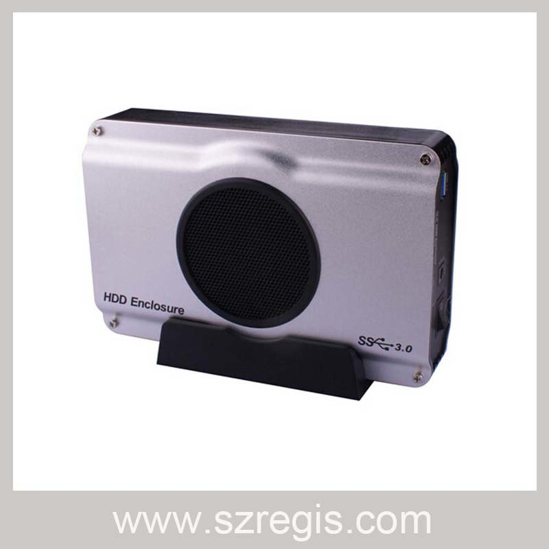 High Speed USB3.0 to SATA HDD Enclosure Built-in 8cm Cooling Fan