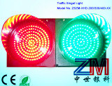 IP65 Red & Green LED Flashing Traffic Light / Traffic Signal