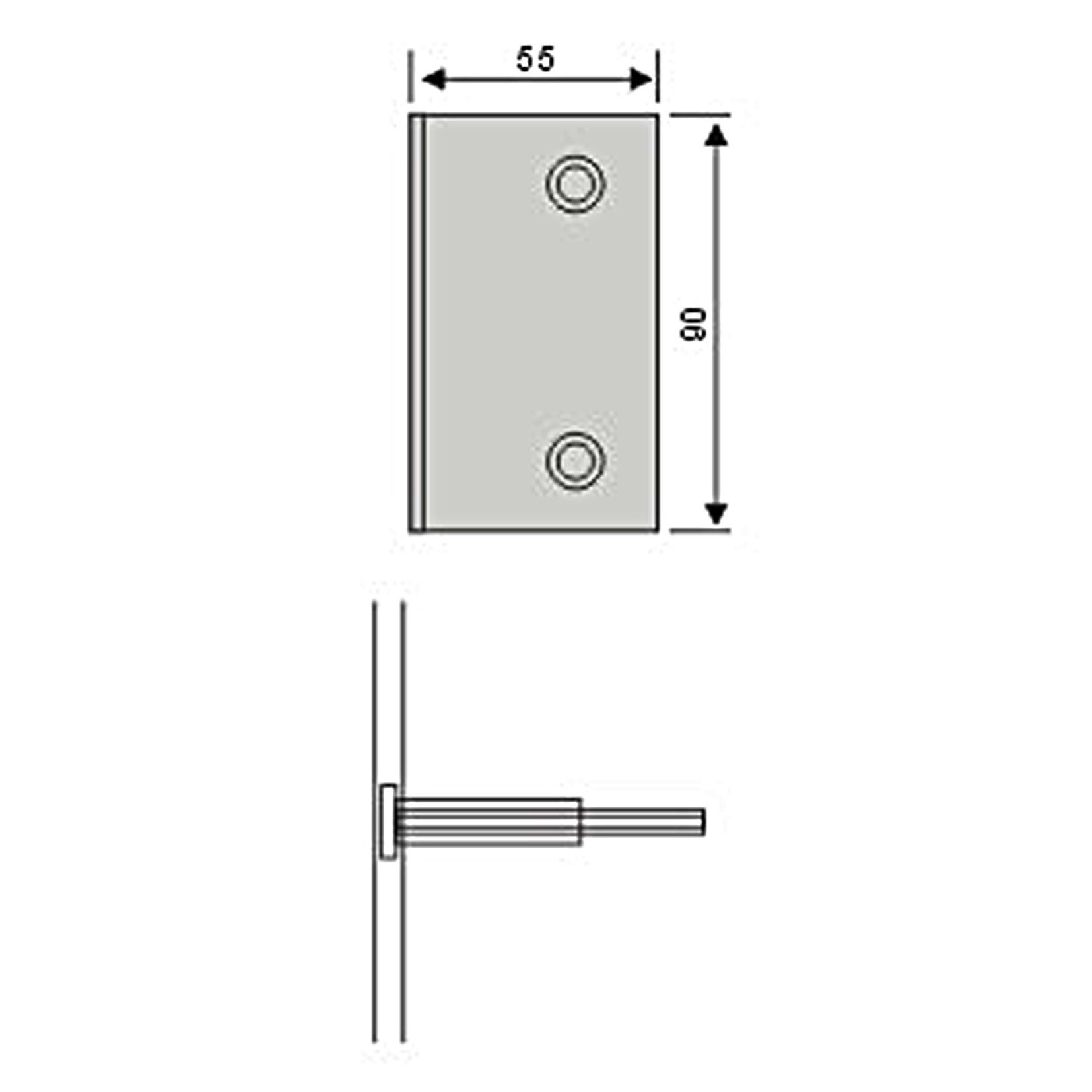 0 Degree Fixed Hardware Hinge Used in Shower Room (CR-Y13)