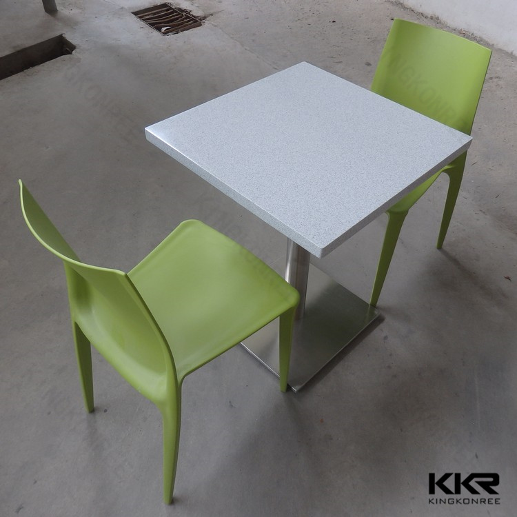 High Glossy White Restaurant Table and Chairs