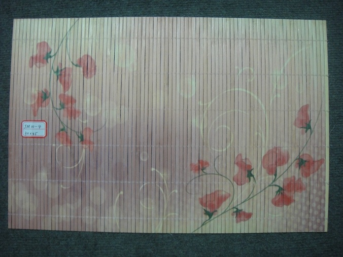 (BC-M1023) Handmade Natural Bamboo Rectangle Heat Insulation Placemat
