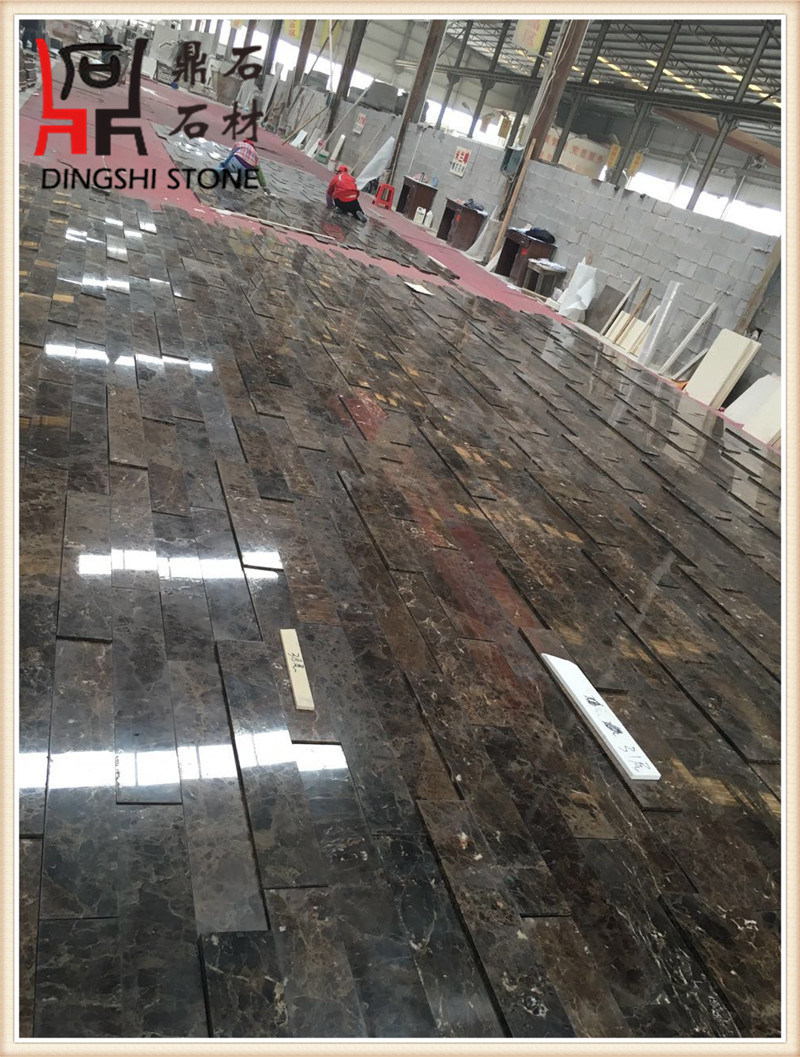 High Quality Spain Dark Emperador Marron Dark Marble Mosaic and Marble Slabs for Floor and Wall