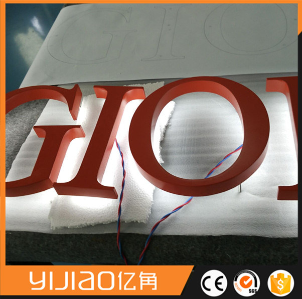 Building Back Lit LED Lighting Sign