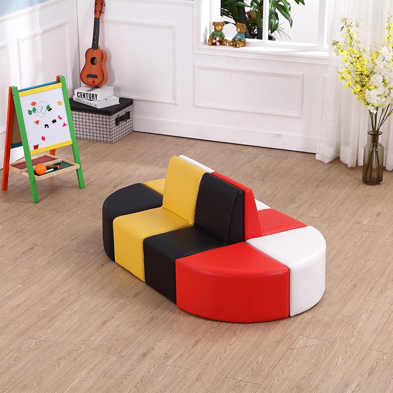 Home Sofa Set - Kids Furniture Chair with Ottoman