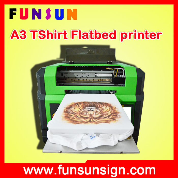 A4 A3 Flatbed T Shirt Cloths Printer with Dx5 Head Cmyk White Colors 1440dpi in The Hot Selling