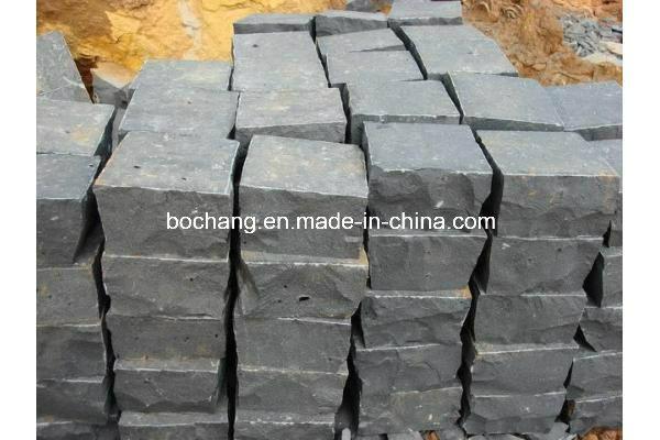 G654 Natural Black Basalt Paving Stone