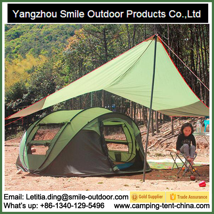 Trade Show 3 Person Family Camping Folding Pop up Tent