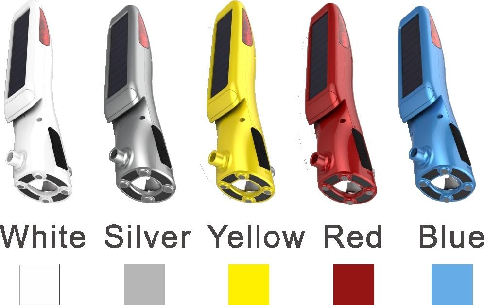 Solar LED Light Multifunctional safety Glass Hammer for Car