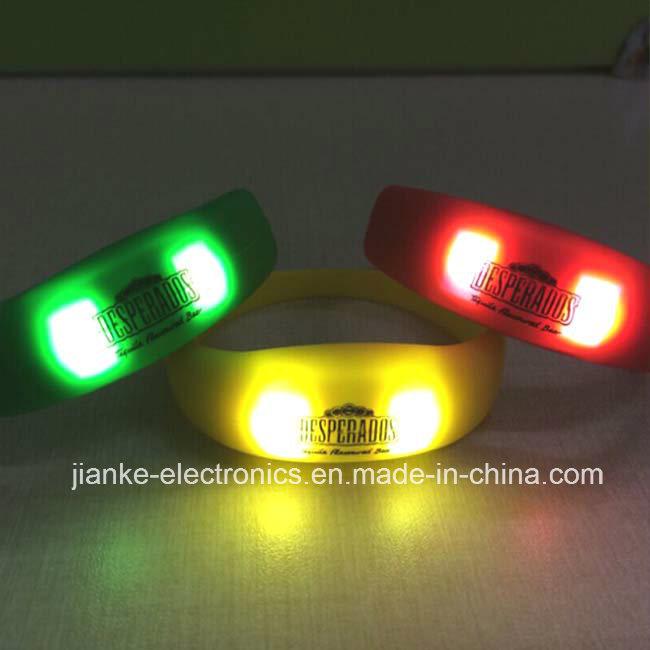 Super Popular LED Glowing Bracelet with Logo Print (4010)