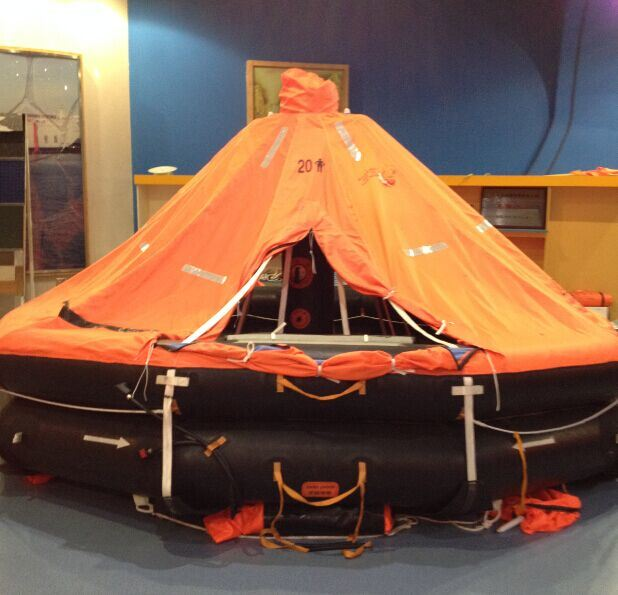 Water Lifesaving Davit-Launched Inflatable Life Raft