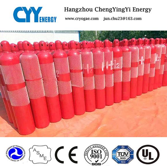50L Helium Oxygen Nitrogen CO2 Seamless Steel Gas Cylinder