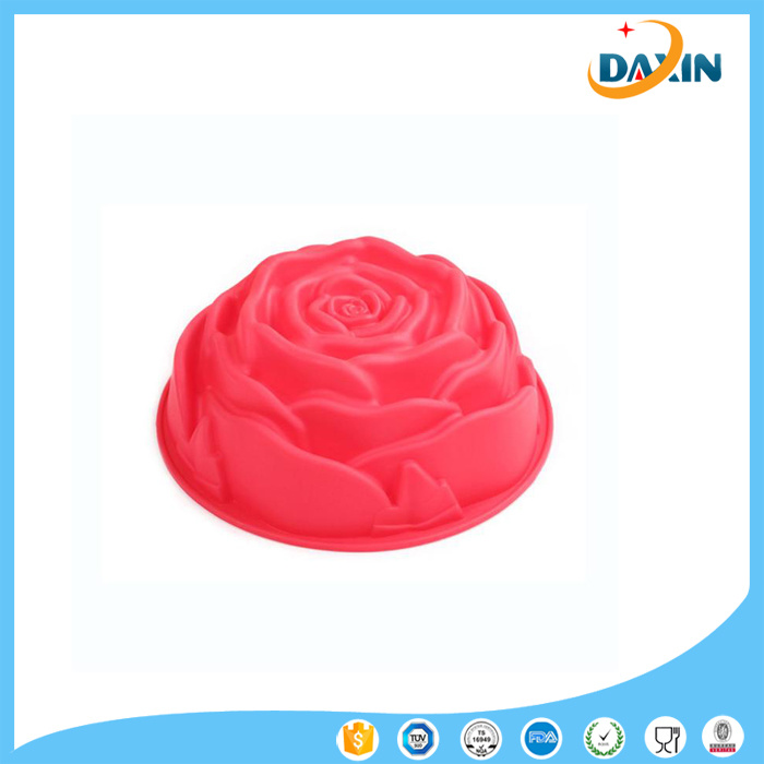 1PCS Rose Type Silicone Cake Mold Tools Baking Pan