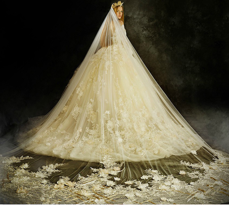 New Style 2018 3/4 Sleeves Ivory Ball Gown Wedding Dress Z201710