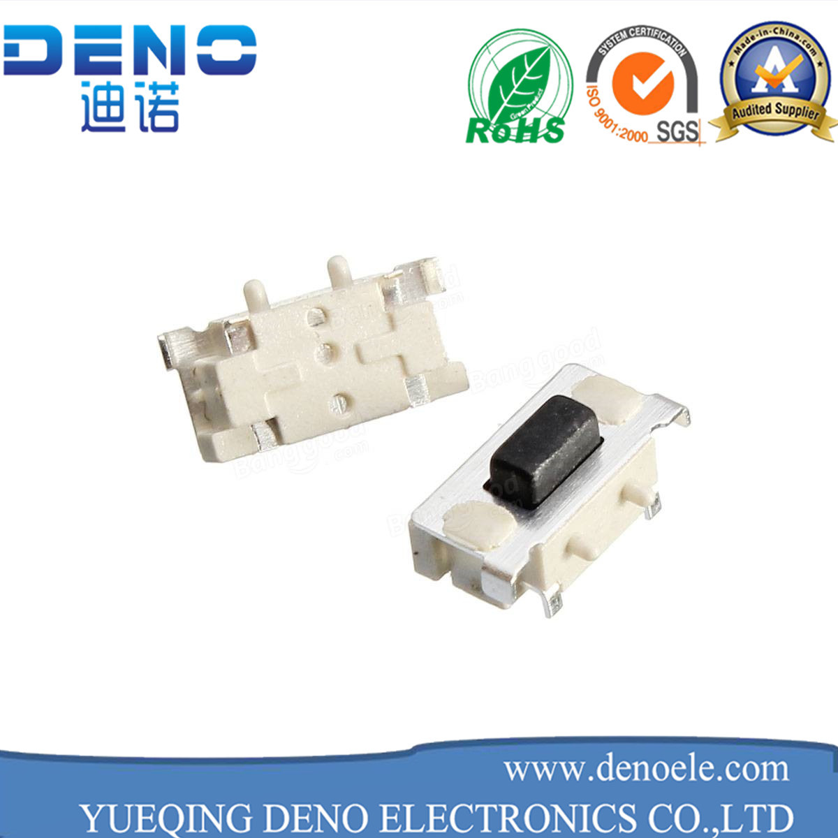 China White Insulator RoHS Compliant 12V SMT Type Tactile Switch ...