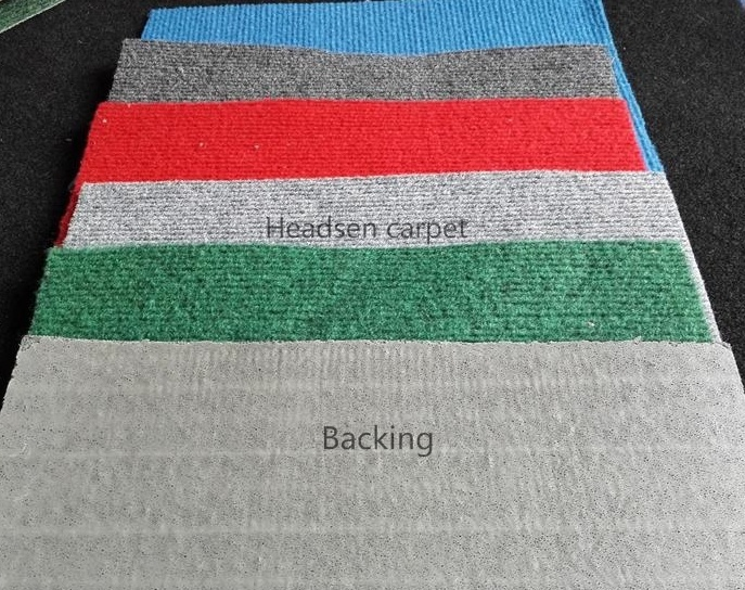 Hot Sale 100% Polyester Ribbed Non Woven Fabric Exhibition Carpet