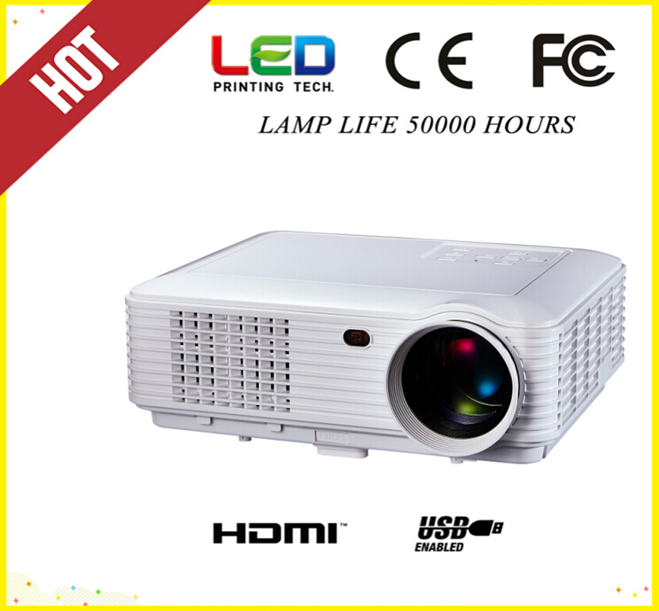 Android WiFi 3000lm, 1280*800 LED Projector with HDMI, USB, TV (SV-228)