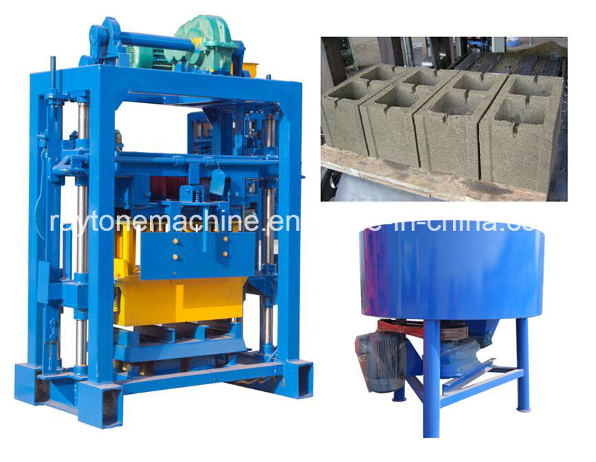 Manual Compress Block Machine Brick Machine (QT40-2)