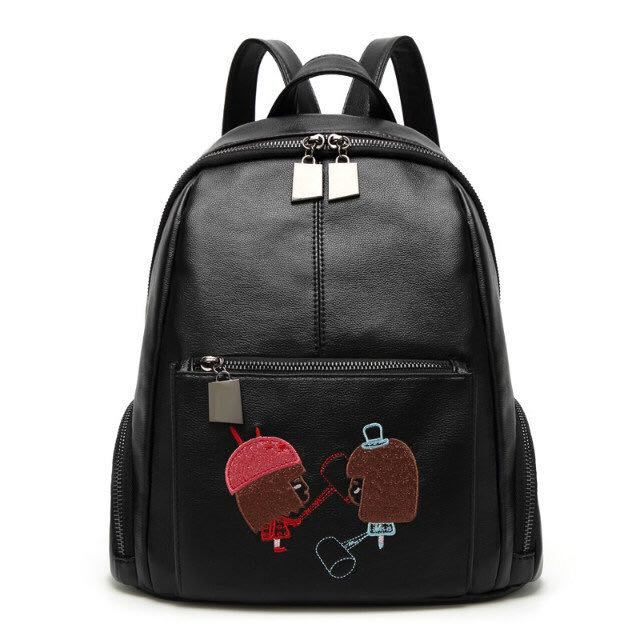 Fashion Women Backpacks Handbags Leisure PU Leather Ladies