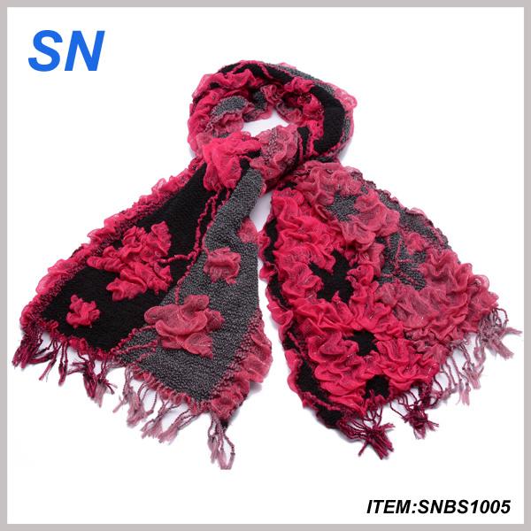2014 Fashion Ruffle Bubble Shawl Warm Neck Wrap (SNBS1005)