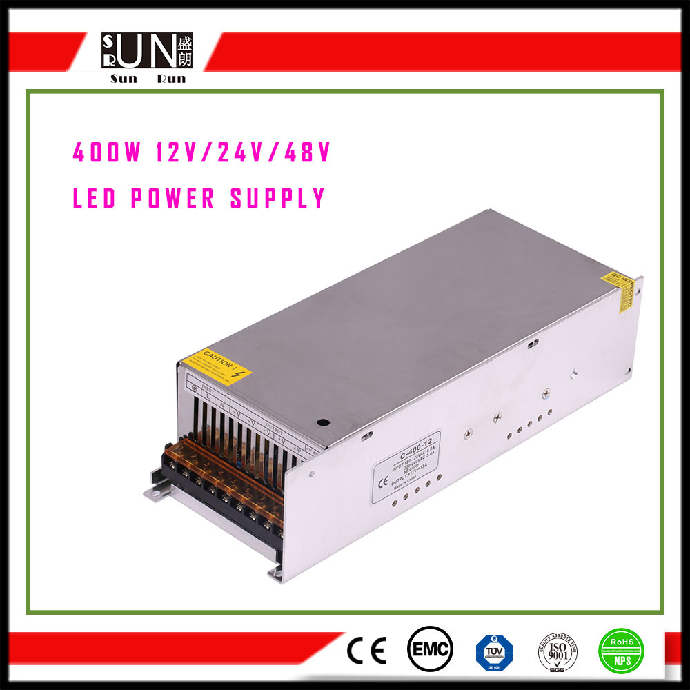 400W High Power, 48V 400W LED Power Supply, 24V 400W High Power Supply, 12V 400W Security and Protection Used LED Power Supply, Constant Voltage LED Driver