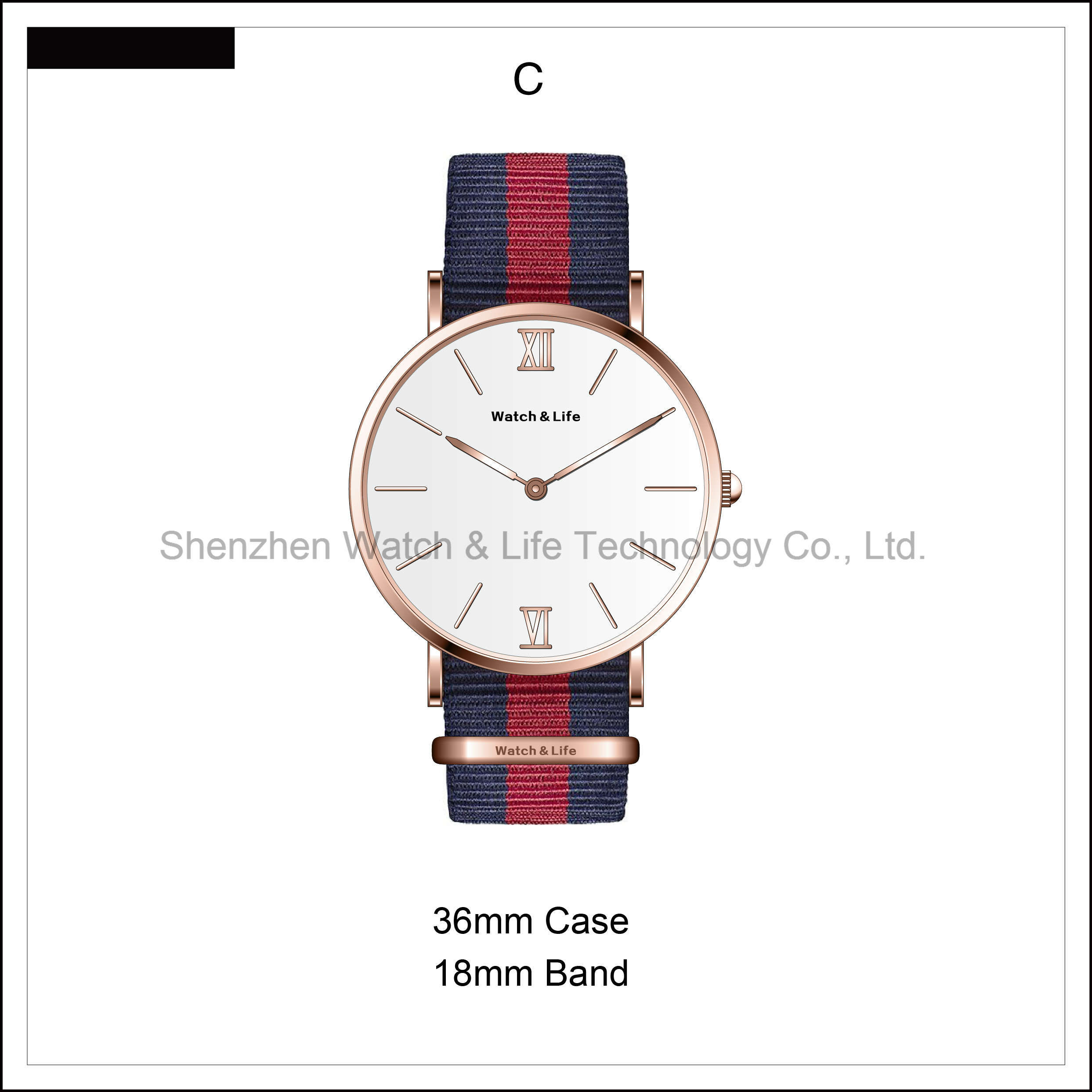 Promotion Simple Men′s Watch Couple Leather Strap D Style Wrist Watch