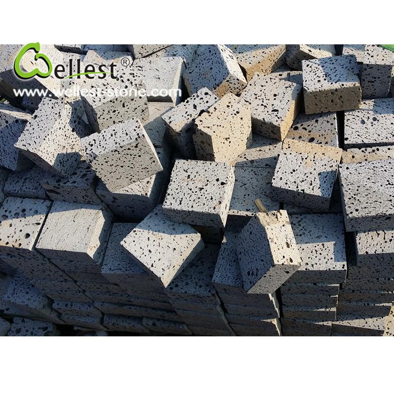 Factory Manufacture Natural Grey Basalt Cube Lava Stone