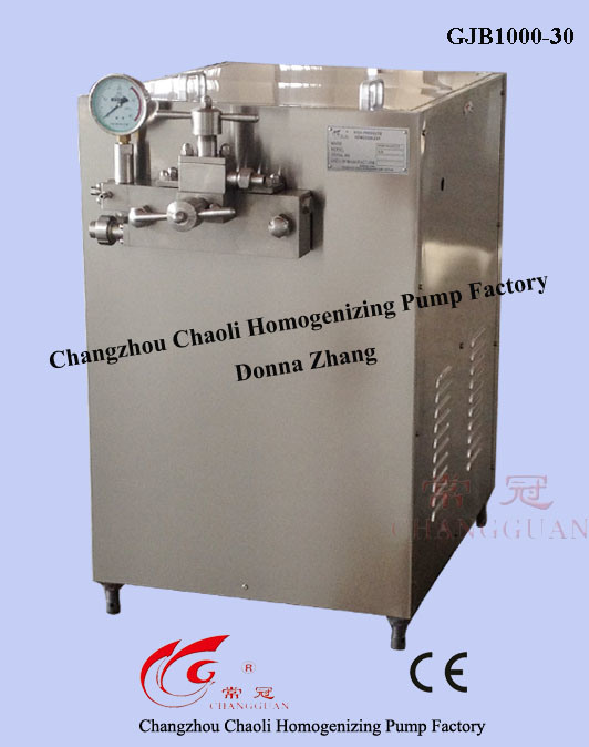 1000L 30MPa High Pressure Soymilk Homogenizer (GJB1000-30)