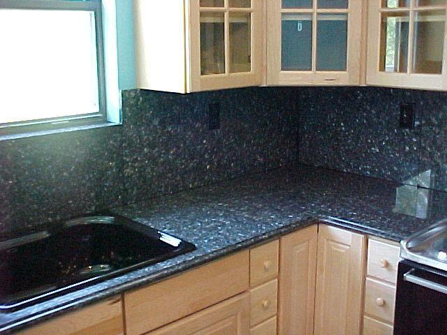 China Blue Pearl Granite Kitchen Countertop KMC 0720